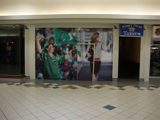 Northgate Mall - vinyl wall mural.