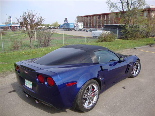 Carbon fiber vinyl Corvette decals.