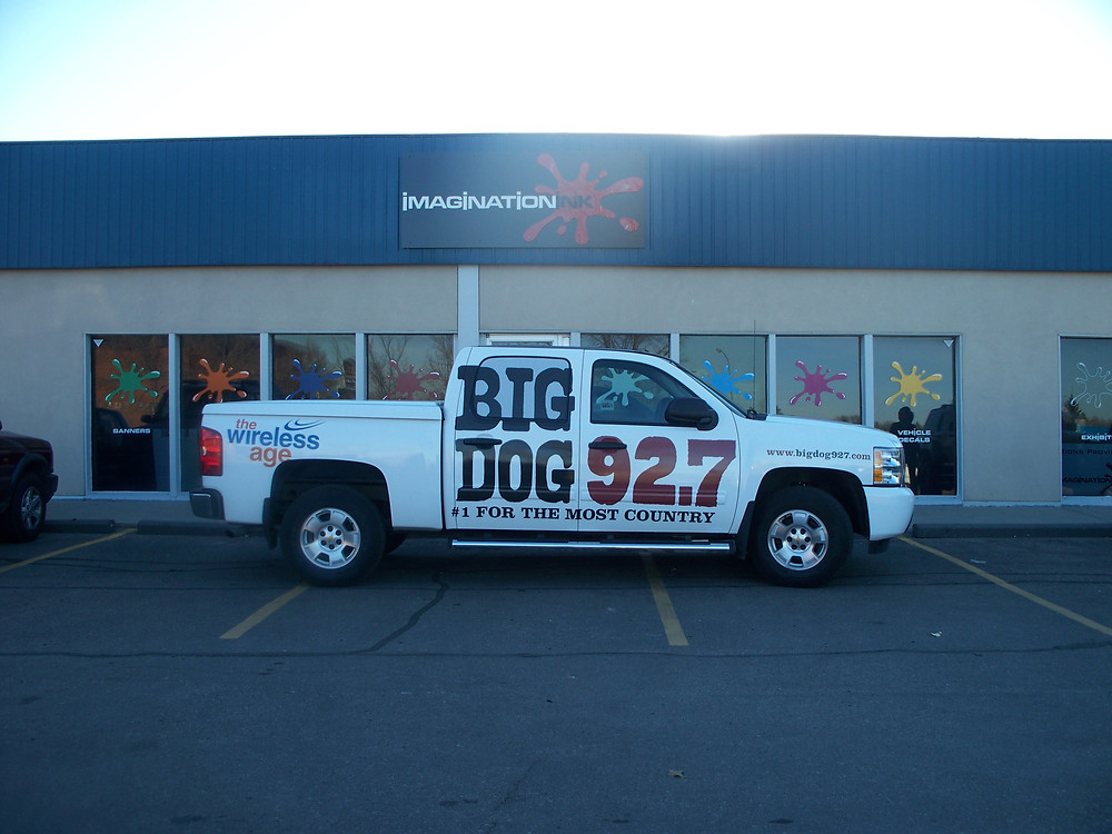 Big Dog 92.7 - vinyl truck wrap.