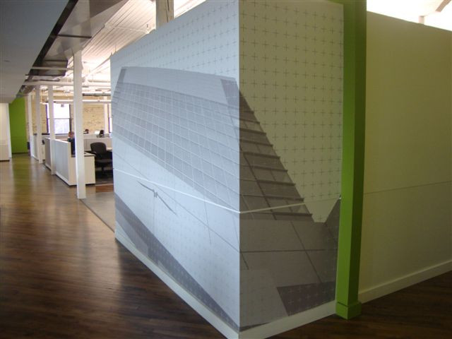 P3 Architecture - vinyl wall mural.