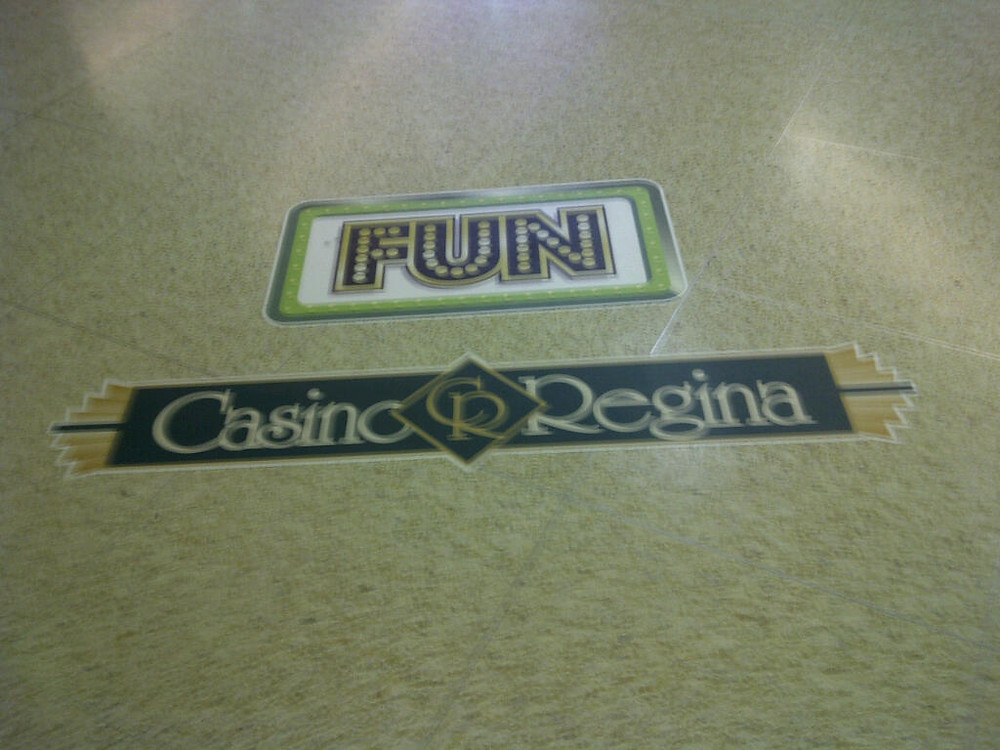 Casino Regina - vinyl floor decals.