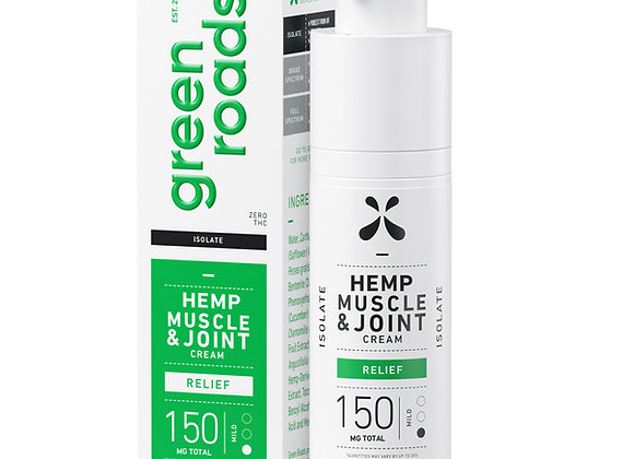 MUSCLE AND JOINT RELIEF CBD CREAM 150MG