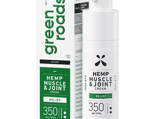 MUSCLE AND JOINT RELIEF CBD CREAM 350MG