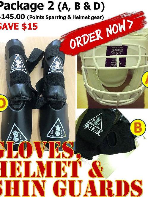 Package 2 - Points sparring & Helmet gear