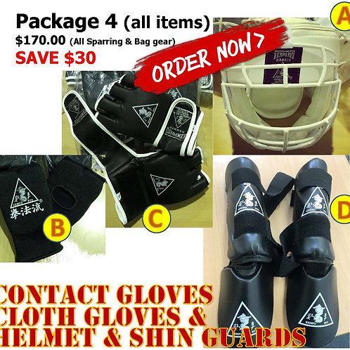 Package 4 - All Sparring gear items