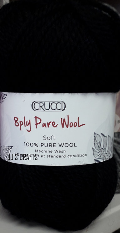 8 ply Pure wool- machine wash