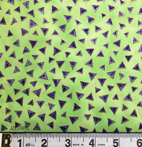 Laurel Burch Lime/Gold Triangles
