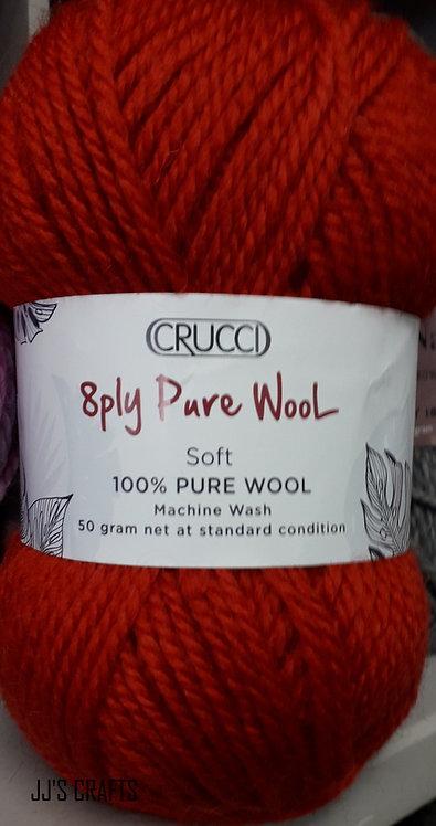 8 ply Pure wool- machine wash