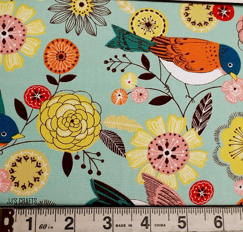 Kapa Birds Floral -  Mint