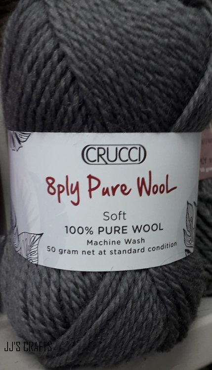 8 ply pure wool-machine wash