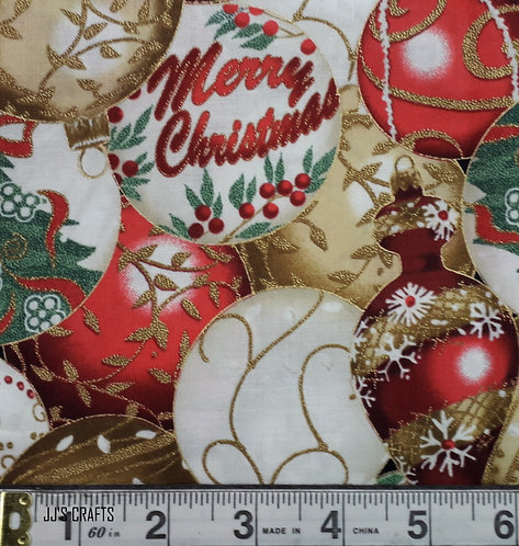 Christmas Ornaments Gold/Gold