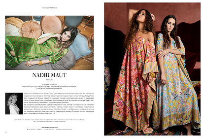 Beautifil caftans and tunics by Nadir Maut