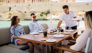 Michelin dining onboard yacht in Malta