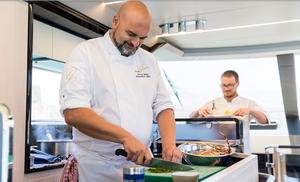 Chef on board yacht in Malta