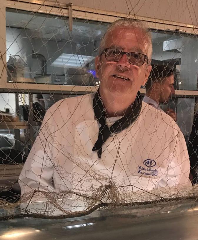 Chef Eddy Sharkey at The Catch, Hilton Malta