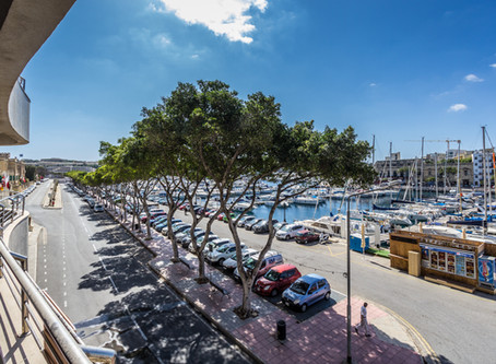 Seafront apartment with exceptional views. Ta' Xbiex Malta.