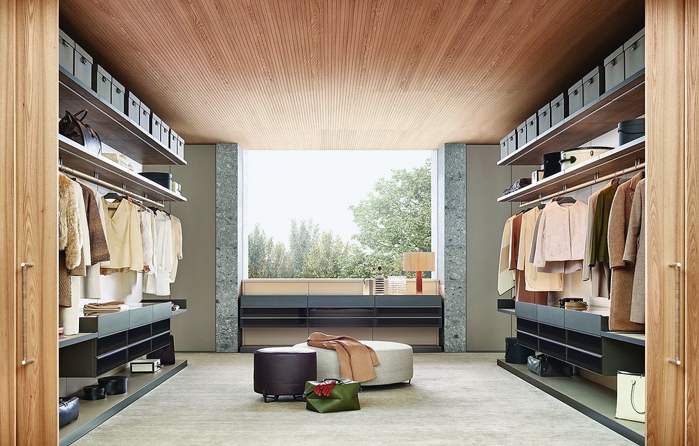 Omar walk-in wardrobe, Poliform, onepercent. Image: Poliform