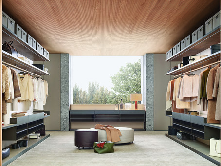 Luxury is a walk-in wardrobe with Poliform at onepercent.