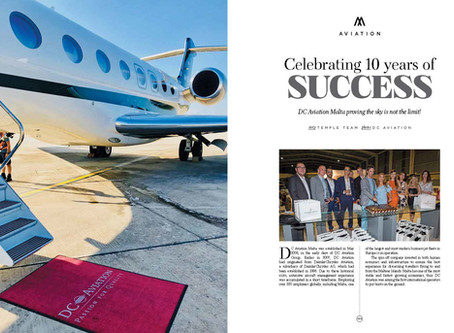 Celebrating 10 years of SUCCESS - DC Aviation Malta proving the sky is not the limit!