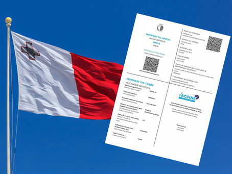 Malta launches its official vaccination certificate