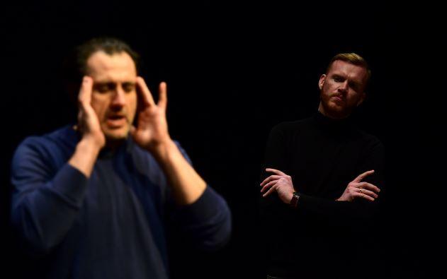 Manoel Theatre - Rehearsal snapshot - Macbeth (Mikhail Basmadjian) and Banquo (Jonathan Dunn)  © Mark Zammit Cordina