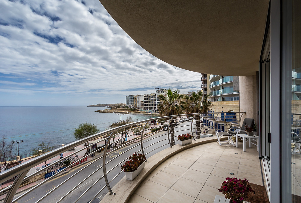 Beachfront Apartment, Sliema, Malta for sale.  Image Copyright Malta Sotheby's International Realty