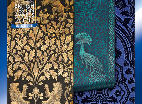 WINNER at the British Design Awards 2020 - The Cole & Son's Pearwood Collection