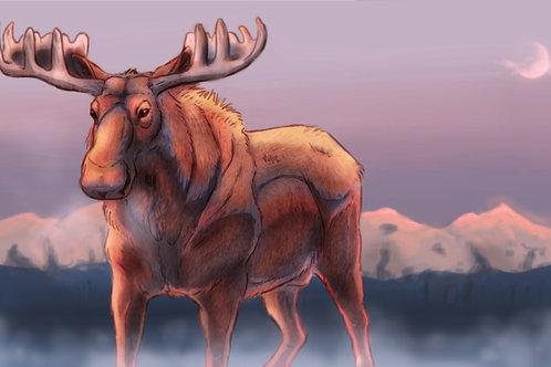 Mist Moose Print