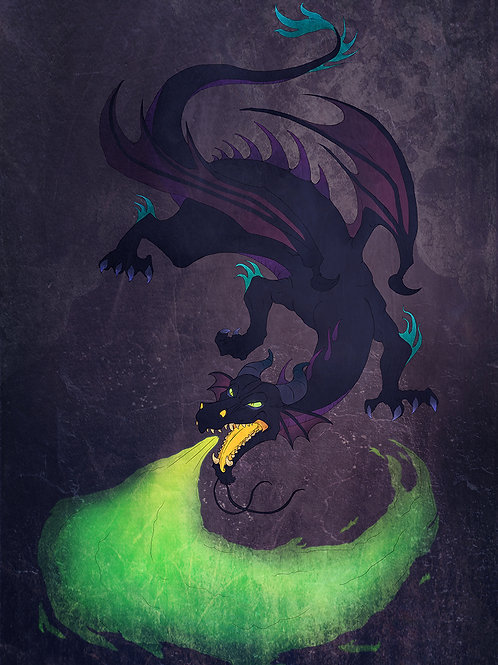 Fierce Dragon Print