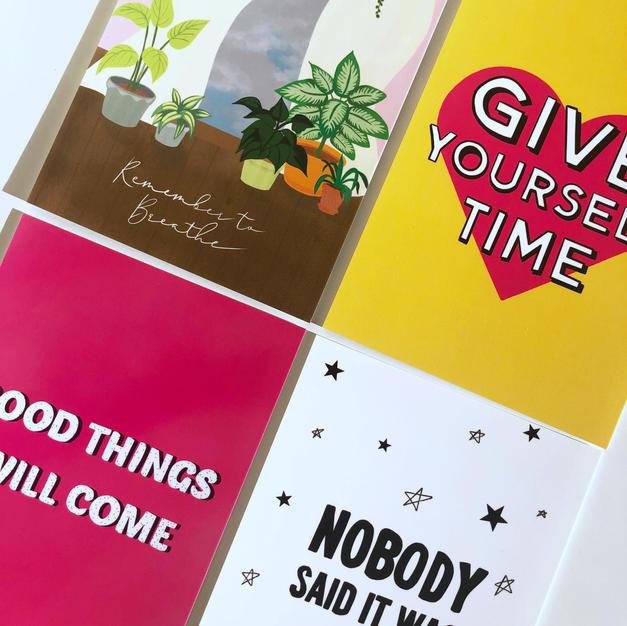 Positive Affirmation Postcards
