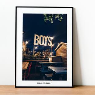 Boys Belgrave Leeds Print