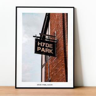 Hyde Park Pub Sign Print