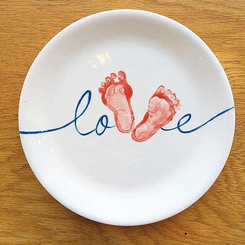 Love Foot Print Plate