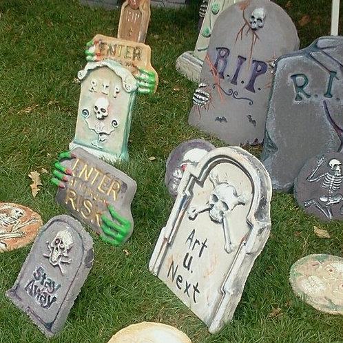 Cement Tombstones