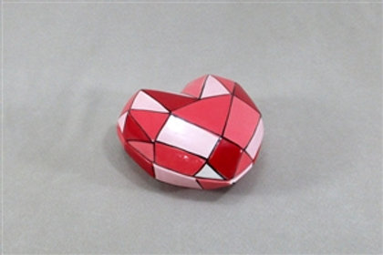 Faceted Heart Shaped Box