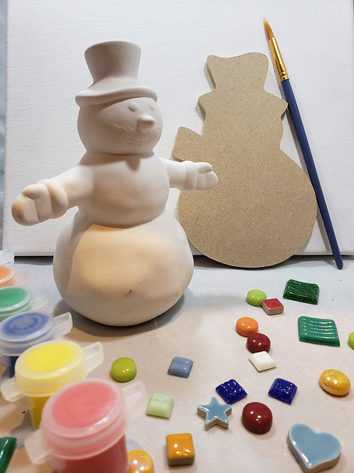 Dancing Snowman Art Kit