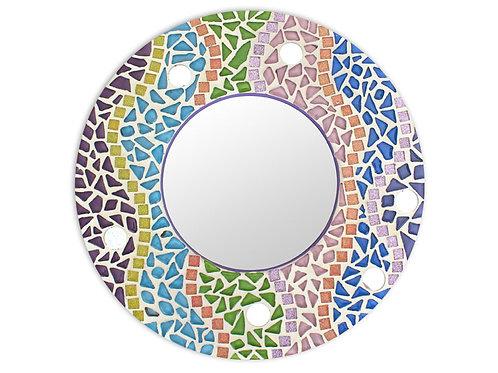 Square and Round Mosaic Mirrors