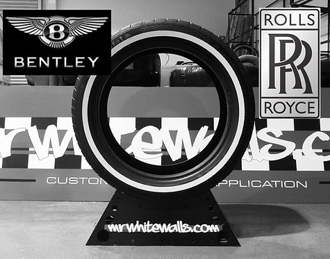 """Rolls Royce 255/50R21 109XL Continental Contact 5 with 1/2"""" whitewall tyre"""