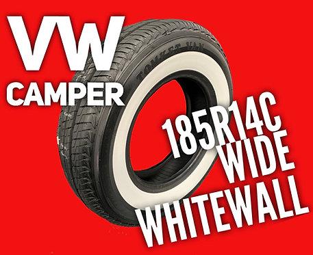 """185r14c vw camper van tyre wide 2"""" (50mm) stripe"""