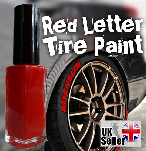 10ml Red Letter Tyre Paint (sick of using rubbish tyre pens?)