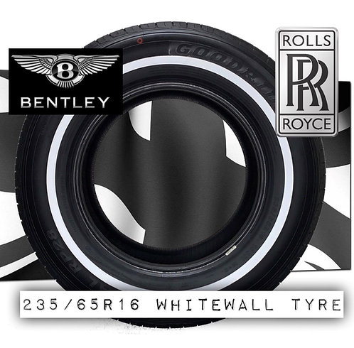"Rolls Royce Bentley  235 65 16 103  (Avon Alternative) 1/2"" whitewall tyre tire"