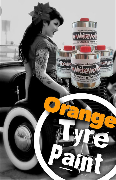 250ml Orange Tyre Paint (for Radial or Cross Ply Tyres)
