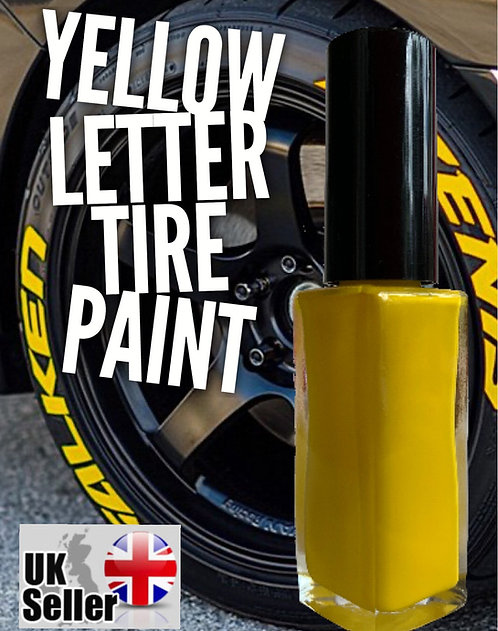 10ml Yellow Letter Tyre Paint (sick of using rubbish tyre pens?)