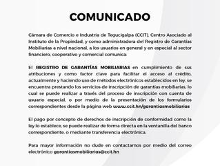 Garantías Mobiliarias CCIT