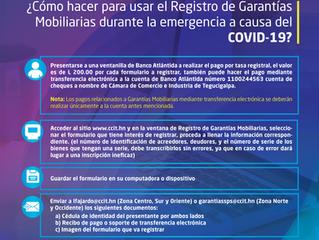 ¿Cómo hacer para usar el Registro de Garantías Mobiliarias durante la emergencia a causa del COVID-1