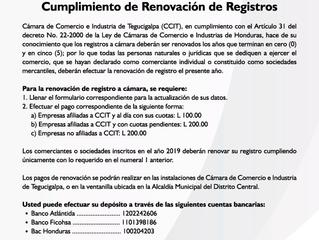 Cumplimiento de Renovación de Registros