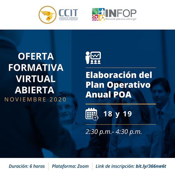 Elaboración del Plan Operativo Anual POA