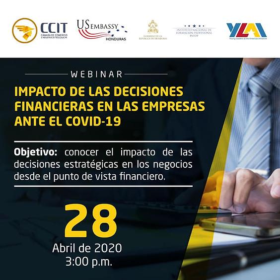 Webinar Impacto de las decisiones financieras en las empresas ante el COVID-19