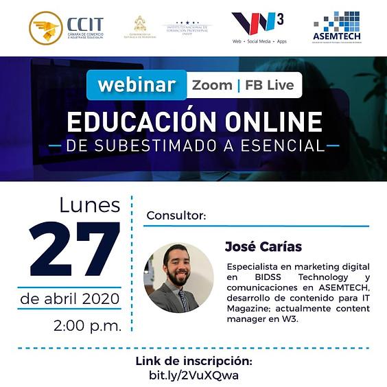 Webinar Educación Online