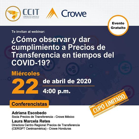 Webinar ¿Cómo observar y dar cumplimiento a precios de transferencia en tiempos de COVID-19?